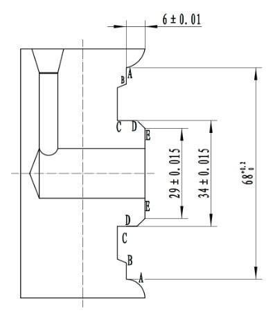 法兰 沧州/用一刀车削工件回转中心两边的方法是一种远程传感器上用的法兰...